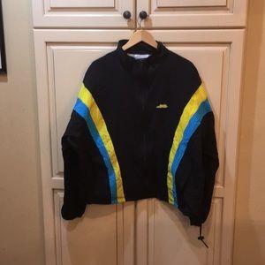 Vintage 80s 90s windbreaker jacket neon xl